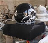 Black marble fountain ball
