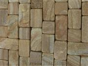 Beige/mixed color Sandstone Cube