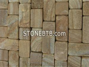 Beige mixed color Sandstone Cube