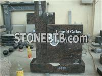 hand shape blue granite baby monument