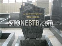 European style flower carving cheap granite headstone