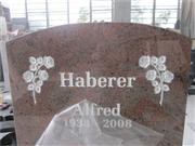 red granite headstone