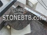 purple granite gravestone