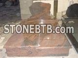 western style granite grave monument slab