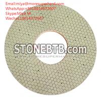 vitrified bond double disc grinding wheel for Hydraulic pneumatic components miya@moresuperhard.com
