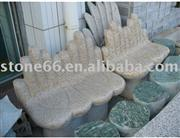 Yellow Hand Natural Stone Bench