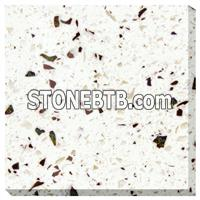 Environmental and Non-toxic quartz with white partical crystal for countertop