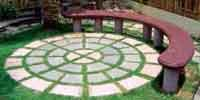 Radial Pavers with Circular Bench