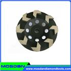 Cup shaped diamond grinding wheel with arrow segment