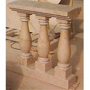 Tikul and Coquina Stone Baluster