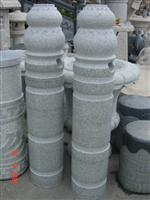 Grey granite garden pillars