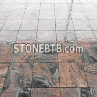 multicolor red granite paving stone