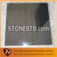Black wood grain marble tiles