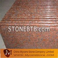 Maple red granite step