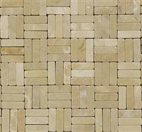 Chinese Beige Marble Mosaic