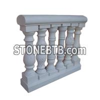 Absolute White Marble Baluster