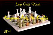 Natural Marble Onyx  Chess set