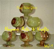 Natural Marble Onyx  Wine Glasses