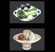 Marble  Onyx  Fruit  with Plates.