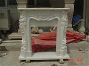 Hunan white Marble Fireplace