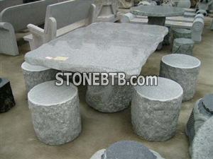 Stone tables and chairs