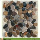 flat round pebbles, flat glass pebbles, flat river pebbles, landscaping pebbles , clay pebbles