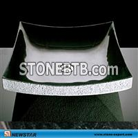 river stone sink,