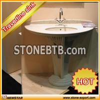 unique pedestal sinks, stone pedestal sink , colored pedestal sinks, decorative pedestal sinks, marble pedestal sink, travertine vanity sink