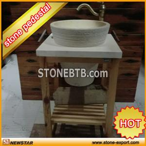 Unique Pedestal Sinks Stone Sink Colored Decorative Marble Travertine Vanity Supply Of
