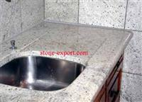 granite vanity tops with ceramic sink and faucets match wooden cabinet