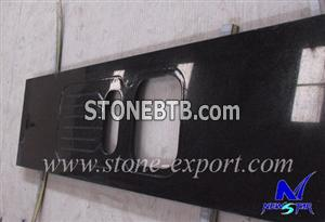 Shanxi Black Granite Kitchen Top with Sink Hole