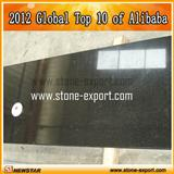 Black granite countertop
