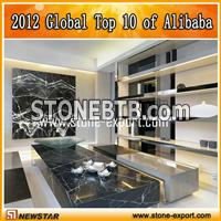 black dining table marble