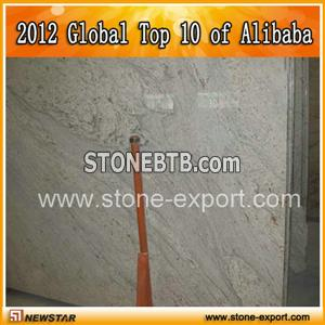 River white granite slab, white tops