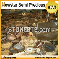 Artificial agated stone countertop