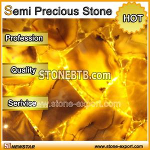 Newstar yellow semi precious stone