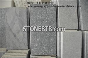 Sandblasted tumbled silver grey paver