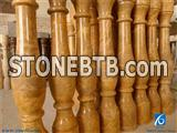 Gold Balustrade & Railings, China Yellow Marble Balustrade & Railings, China Yellow Marble Baluster