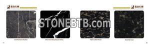 Acid Washed&Brushed&China Nero Marquina&Black Golden Flower&Butterfly Green