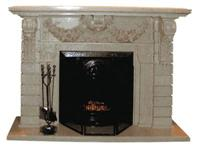 Granite Tile Fireplace
