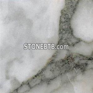 Green White Flower Marble