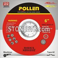 6In Diameter 0.045In Thickness Cutting Wheel 7/8'' Arbor Hole, Type 42 Angle Grinder