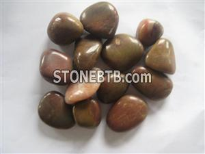 Red Highly Polished Pebble Stone
