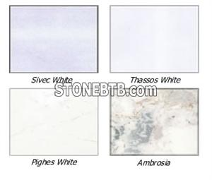 sivec white marbles