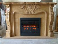 Golden-stone Fireplace