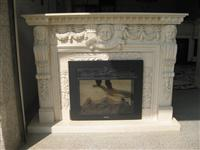 Shabnam Carving Fireplace