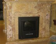 Onyx fireplace mantel