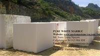 Crystal White Marble Blocks from Nastoma Stone Vietnam
