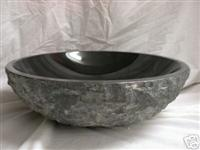 Absolute Black granite  natural vessel sink