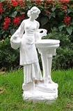 White Marble Carved Water Fountain